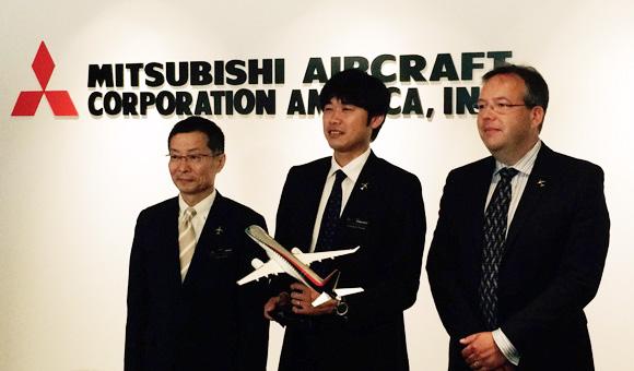 MRJ 三菱航空機株式会社取締役副社長・岸信夫氏、SEC の本田健一郎所長、A... 三菱航空機